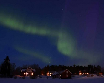 Aurora Borealis, or Northern Lights, light up the Nordic winter darkness. November, 2015. (AFP/Jonathan Nackstrand)