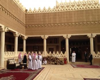 Inside the palace at Diriyah Farm